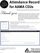 Fillable Attendance Record Aama Printable pdf