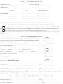 Wsu Travel Request Form