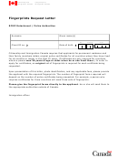 Fingerprints Request Letter Template - Citizenship And Immigration Canada