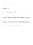 Sample Letter Requesting Access Or Copy Of A Public Record