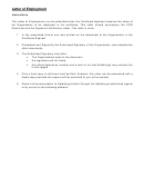 Letter Of Employment Template