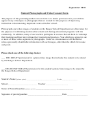 Student Photograph And Video Consent Form