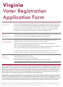Virginia Voter Registration Application Form