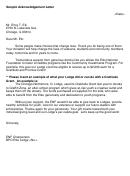 Sample Acknowledgement Letter