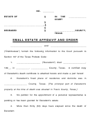 Small Estate Affidavit And Order
