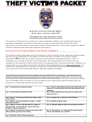 Identity Theft Affidavit Form - Wichita Police Department