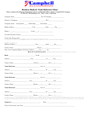 Business Bank & Trade Reference Sheet