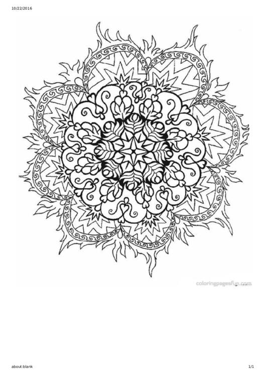 Mandala Coloring Sheet
