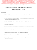 Template Letter For Termination Of Residential Lease