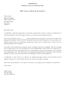 Sample Letter Of Introduction Template - Lawyer