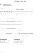 Transmittal Letter - Amendment Section, Division Of Corporations