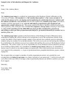 Sample Letter Of Introduction And Request For Audience