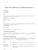J 2 Employment Application Letter