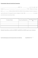 Authorization Letter For Credit Card Transaction