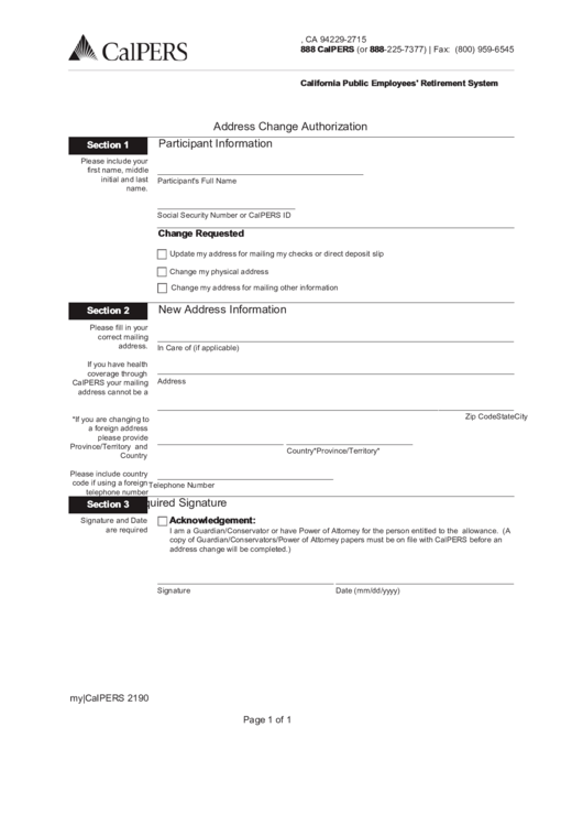 Top 6 Social Security Change Of Address Form Templates free to