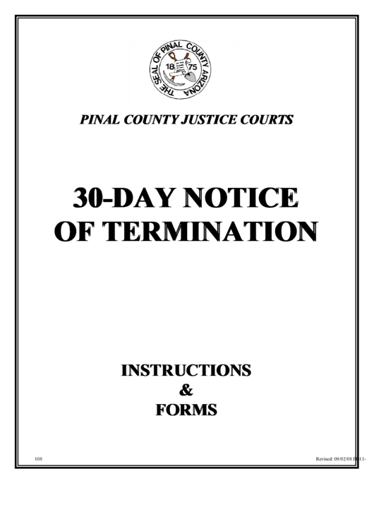 Notice Of Termination Of Month-to-month Tenancy