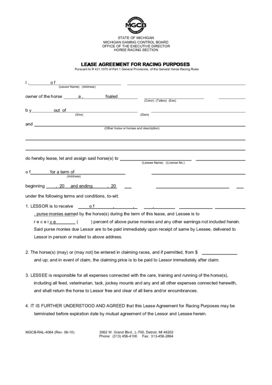 Top 18 Horse Lease Agreement Templates Free To Download In Pdf Format
