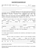 Lease Deed For Agricultural Land