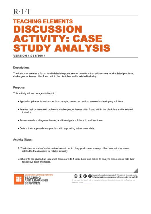 Case Study Analysis