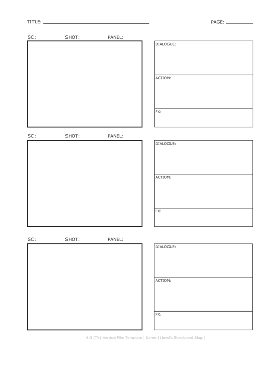 Top 7 Movie Storyboard Templates free to download in PDF format