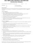 Self Employed Carpenter Contract For Services