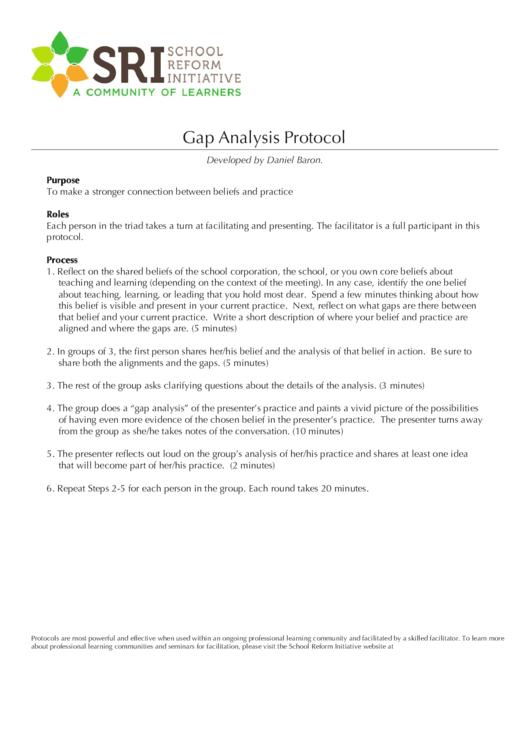 Gap Analysis Protocol Printable pdf