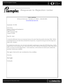 Response To Rejection Letter Template