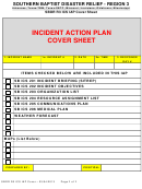 Incident Action Plan Cover Sheet
