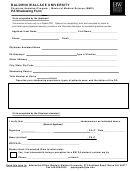 Pa Shadowing Form - Baldwin Wallace University