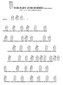For Baby (for Bobbie) - John Denver Chord Chart