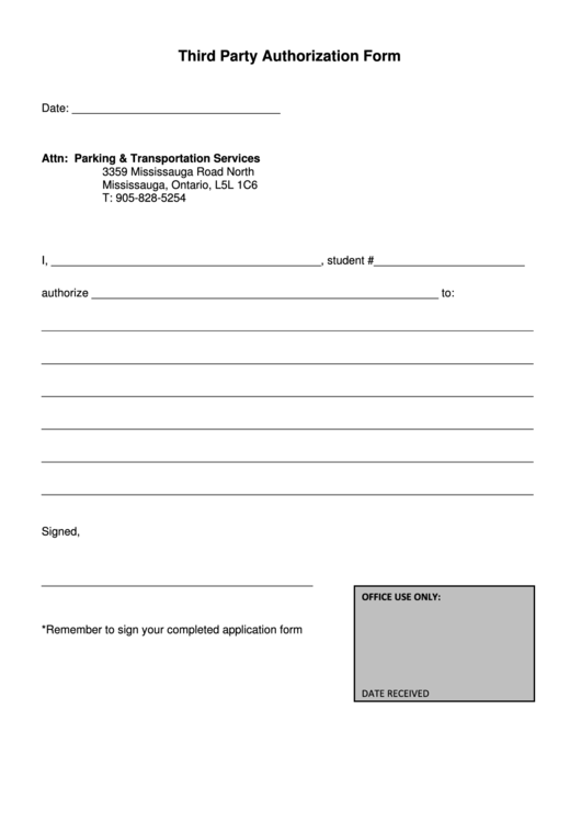 citizens bank third party authorization form