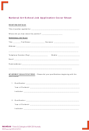 National Art School Job Application Cover Sheet