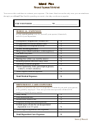 Personal Expenses Worksheet Template