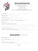 Sponsorship Payment Receipt Form