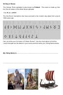 Vikings' Runic Alphabet