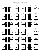Guitar Chords - Root Position Xa Guitar Class