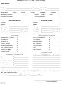 Financial Declaration - Traffic Petition