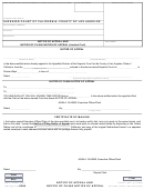 Notice Of Appeal And Notice Of Filing Notice Of Appeal (limited Civil)