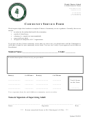 Community Service Form - Woods Charter School