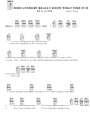 Does Anybody Really Know What Time It Is - Robert Lamm Chord Chart