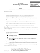 Appointment Of Agent For Service Of Process And Undertaking