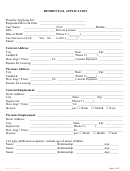 Form Ap-001 - Residential Application