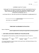 In The Matter Of The Application For Temporary Guardianship Of