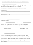 Request Of Waiver Of Right Of First Refusal To Purchase Form