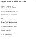Chris Tomlin - Amazing Grace (my Chains Are Gone) Lyrics