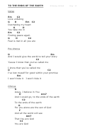 To The Ends Of The Earth (g) - Hillsong Chord Chart