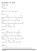 He Wants It All - Piano Chord Chart