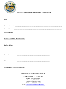 Change Of Customer Information Form