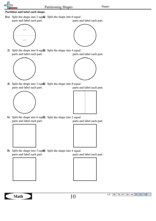 partitioning shapes worksheet with answer key printable pdf download. Black Bedroom Furniture Sets. Home Design Ideas