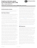 Instrucciones Para El Formulario 941-pr - Planilla Para La Declaracion Federal Trimestral Del Patrono - 2017